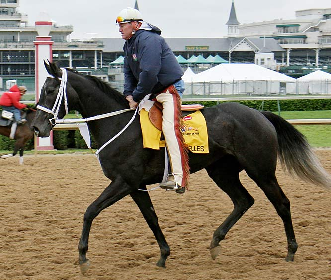 Post Position: 5<br>Trainer: Larry Jones<br>Jockey: Gabriel Saez<br>The last filly to win the Derby was Winning Colors in 1988. The last to attempt it were nine years ago, when Excellent Meeting finished fifth and Three Ring was 19th. ''This is a special filly,'' Jones says. ''So we're taking a shot.'' Generally, the bumper-cay Derby is not the ideal spot for a filly likely to be lodged in mid-pack, but Jones and owner Rick Porter like Eight Belles' natural aggression and they don't particularly like any other horse in the field by a prohibitive margin. It looks like a good year to try this.