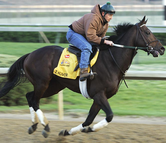 Post Position: 11<br>Trianer: Bill Mott<br>Jockey: Rene Douglas<br>Some horses appear to not belong in the Derby. Z Humor would appear to be one of those horses. He is eligible largely because of a big score in a soft two-year-old race late in 2007. His best finish in '08 is a an unthreatening third in the Illinois Derby. As a son of sprint sire Distorted Humor, he might factor in a fast pace scenario, but it is hard to envision him impacting the race any other way, unless he breaks right and jostles Colonel John.