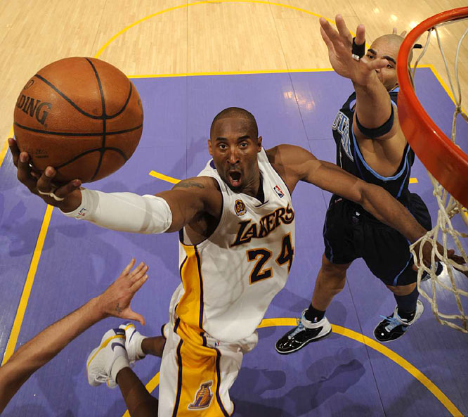 Kobe Bryant scored 38 points as the Lakers won their fifth straight playoff game of the season.