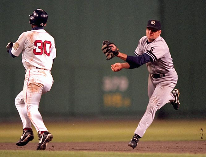 A Red Sox rally was doused when Jose Offerman was called out on the bases by a phantom tag from Yankees second baseman Chuck Knoblauch, who would then complete the double play. The Yankees would win the game and the series in five games.