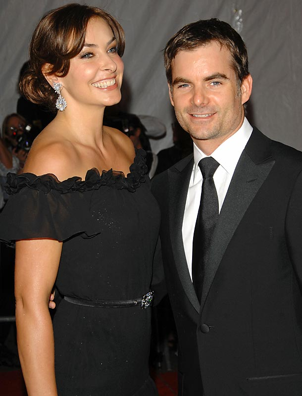 Jeff Gordon and Ingrid Vandebosch...