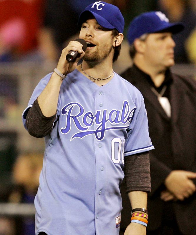 It was 'American Idol' week at sporting events around the country. Finalist David Cook sang Take Me Out To The Ballgame in Kansas City.