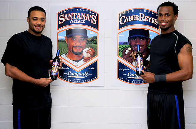 With things not going well on the field, Johan Santana (left) and Jose Reyes figured out a way to make things go well off the field -- wine!