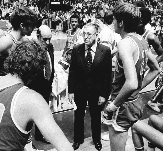 Wooden led UCLA to 88 straight wins before losing to Notre Dame in 1974.
