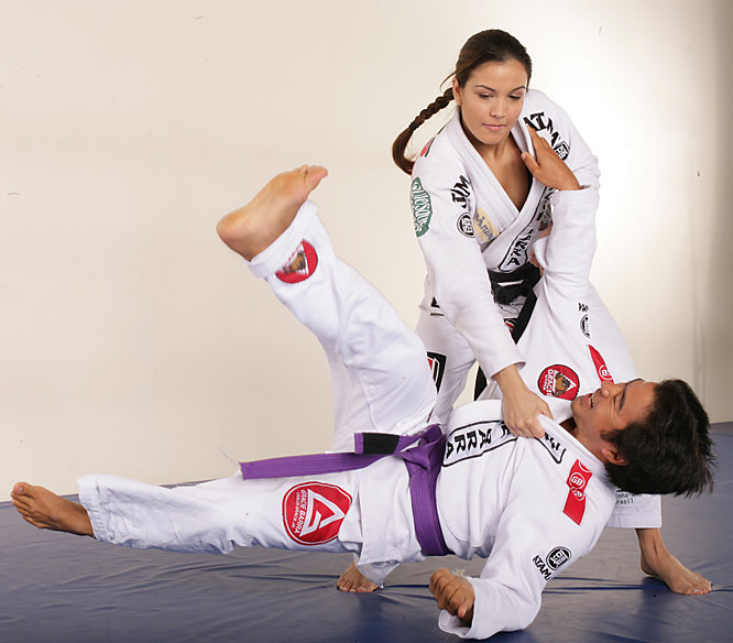 Showing off her jiu-jitsu skills, the now 22-year-old (shown at 20) Kyra is a five-time Pan American Brazilian Jiu-Jitsu Champion.