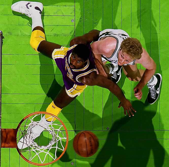 Larry Bird beats out Magic Johnson for NBA Rookie of the Year.