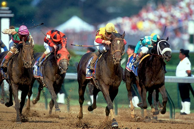 The 2-1 favorite was by far the top horse at the 126th Derby -- from the morning line to the finish line. With a 1 1/2-length victory, Fusaichi Pegasus managed to finish in 2:01 -- the sixth fastest time in Derby history. Although he was the first favorite to win the Kentucky Derby since Spectacular Bid in 1979, Fusaichi Pegasus was defeated by Red Bullet in the second leg of the Triple Crown, the Preakness Stakes.