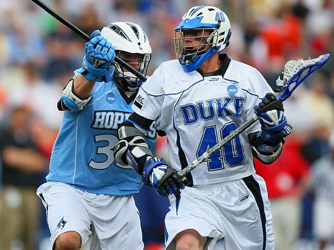 In one of the biggest upsets in recent memory, top-seed Duke fell 10-9 to fifth-seed Johns Hopkins in a semifinal game.