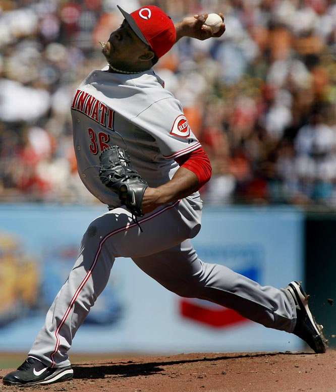 Volquez allowed just two earned runs on four hits in six innings on May 18 as the Reds completed a three-game sweep of the Indians with a 6-4 victory. The 24-year-old righty improved to 7-1, while his MLB-best earned run average rose slightly to 1.33.