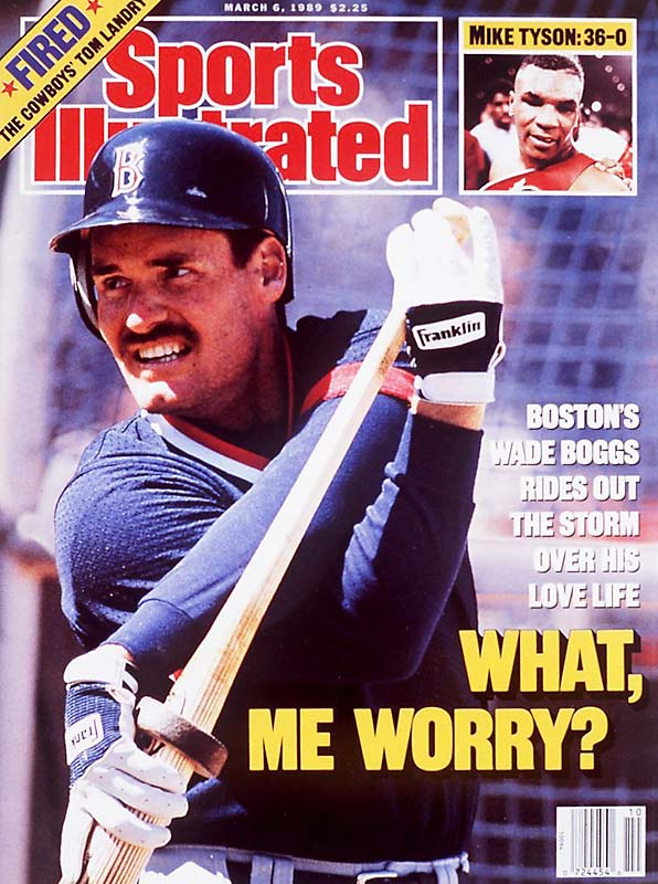 "Boston's five-time batting champ became the face of extramarital canoodling when it was revealed in 1988 that he'd been singing ""Why Don't We Do It On The Road"" with mistress Margo Adams for four years. When Boggs cut ties, Adams sued him for $12 million worth of emotional distress, and dished sauce to Penthouse. With fans chanting ""Mar-go!"", Boggs came clean by going on 20/20 to tell Barbara Walters what a mean old conniving blackmailer Adams was."