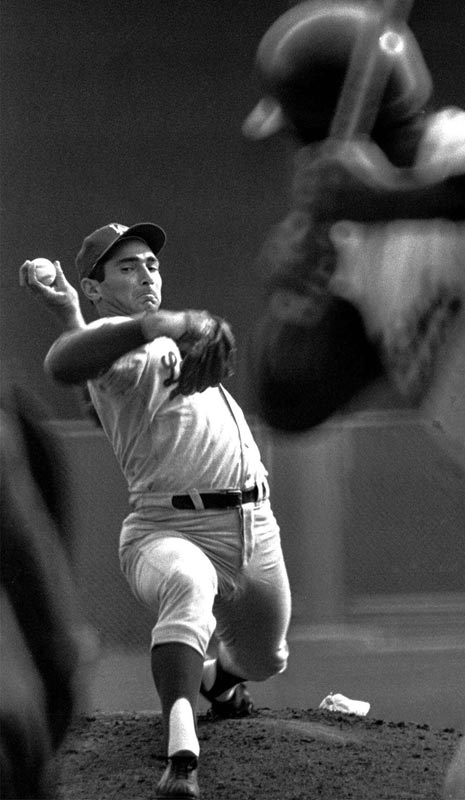 Perhaps no pitcher has been better over a four-year stretch than Sandy Koufax from 1963 until his premature retirement due to arm trouble at age 30 in 1966. Over that span, Koufax won three Cy Young awards, but his best season came in 1965, when he went 26-8 with a 2.04 ERA, pitched a perfect game and struck out an NL-record 382 batters.