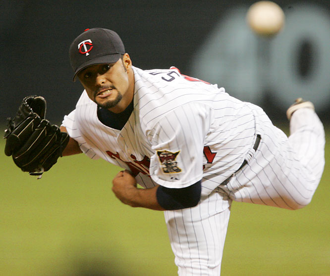 During his first full season as a starter in 2004, Johan Santana enjoyed one of the best second halves of a season for a pitcher. He went 13-0 and achieved a 1.21 ERA to finish the season with a 20-6 record, 2.61 ERA and 265 strikeouts on the way to his first of two AL Cy Young awards.