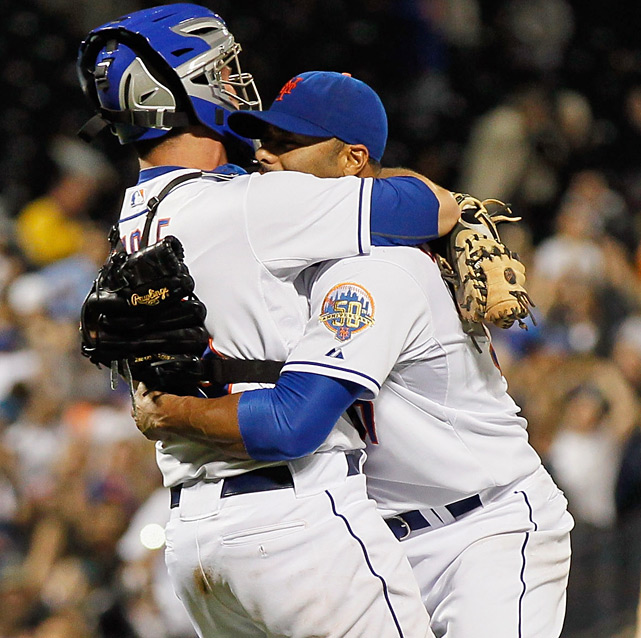 After 35 one-hitters, the Mets finally got the first no-no in franchise history. Johan Santana, who missed all of last season while recovering from shoulder surgery, struck out eight and walked five as New York beat the Cardinals 8-0. It left the Padres as the only team without a no-hitter.