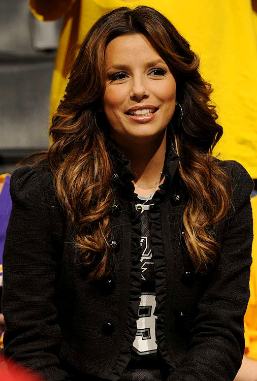 Eva Longoria, actress and wife of Tony Parker, graced the seats in Game 1.