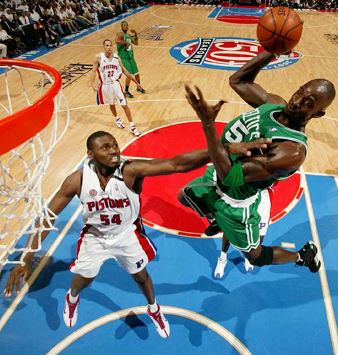 Kevin Garnett had 22 points, 13 rebounds and six assists to lead Boston to a 94-80 win over Detroit in Game 3. Boston took a 2-1 lead in the series.