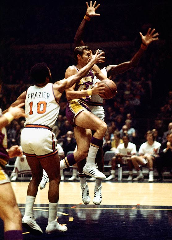 After hobbling off the court early in Game 5 with a torn thigh muscle, Willis Reed made a surprising and triumphant return moments before tip-off for the deciding game. Buoyed by his presence — and his scoring the first two baskets of the game — the Knicks won the title 113-99 behind Walt Frazier's 36 points and 19 assists.