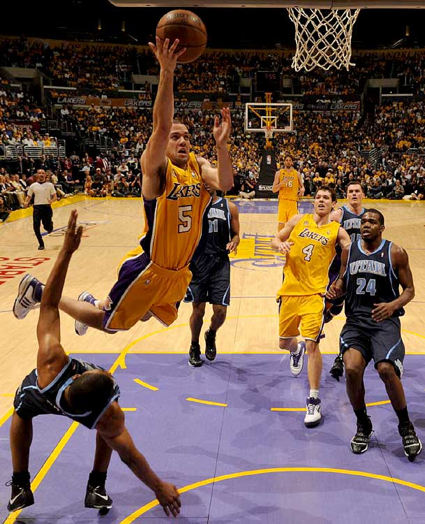 L.A's backup point guard Jordan Farmar, who played his college ball at UCLA, had four points and three assists in the Lakers' 120-110 Game 2 victory.