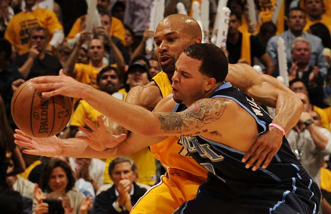 Derek Fisher helped counter Utah point guard Deron Williams in Game 2. Fisher scored 22 points and hit four three-pointers to help the Lakers take a 2-0 series lead.
