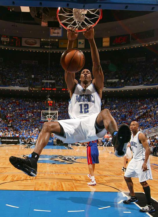 After two losses in Detroit, Dwight Howard got Orlando in the win column in Game 3. Howard had 20 points, 12 rebounds and six blocks to lift the Magic to a 111-86 win over the Pistons.