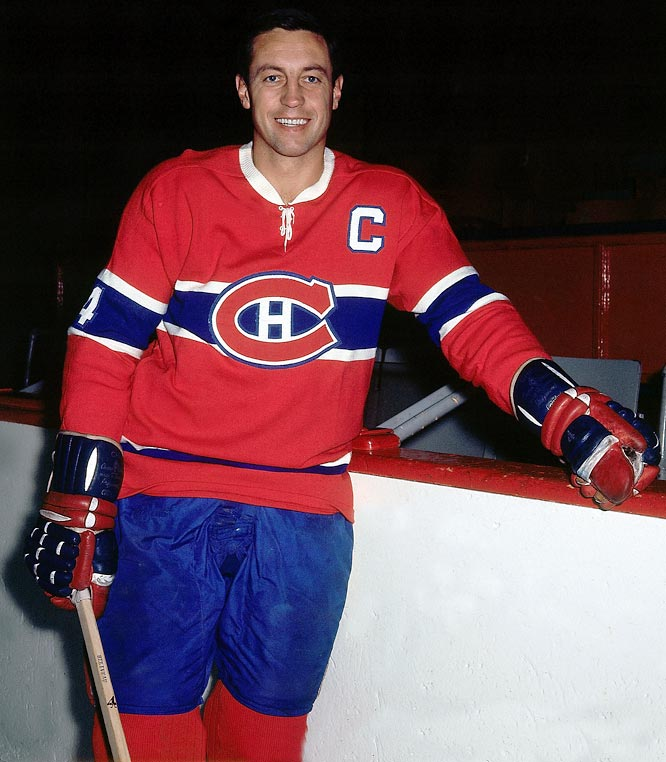 The swift, Hall of Fame center was a 10-time Cup-winner and the first player to win the Smythe. Beliveau scored eight goals and 16 points in the '65 playoffs, including a record four power play tallies in the seven-game final vs. Chicago. Other Canadiens notables who have won the Smythe include Serge Savard (1969), Yvan Cournoyer (1973), Guy Lafleur (1977), Larry Robinson (1978) and Bob Gainey (1979).