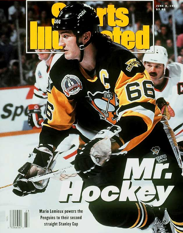 Super Mario's seventh NHL season proved to be seventh heaven as he led the Penguins to their first Cup by scoring 16 goals and 44 points in 23 games. For an encore, he again brought home the silverware (Smythe and Cup) with another 16-goal postseason in '92.