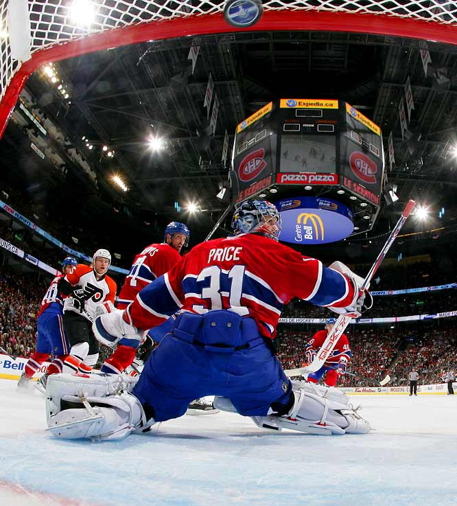 In a move that will surely be discussed in Montreal for years to come, the Canadiens entrusted their playoff hopes to 20-year old rookie Carey Price. After weathering a seven-game first round against Boston and winning Game 1 against the Flyers, Price unraveled and found himself on the bench for Game 4, which favored Montreal also lost.