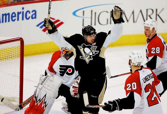 The Flyers dropped a 6-0 decision in Game 5 to the Sidney Crosby-led Penguins.