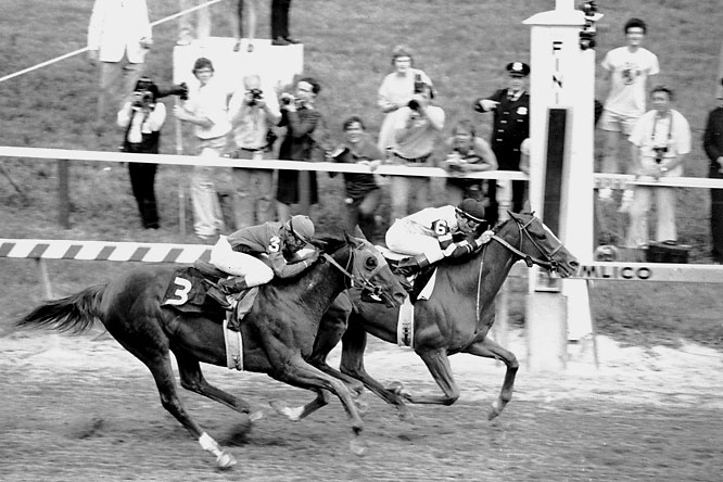 Not only did Affirmed come through with a Preakness win, but also a Belmont victory to complete the Triple Crown.