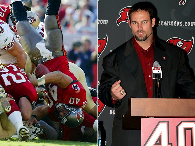 A fan favorite for his bruising, bone-crushing ways, the six-time Pro Bowl fullback said a neck injury led to his decision. He retires as the all-time Buccaneers touchdown leader.