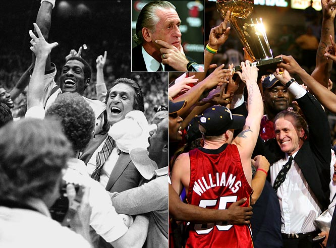 On the heels of a 15-67 season, the former director of the Lakers Showtime teams stepped down as coach of the Heat with an NBA championship ring for each finger.