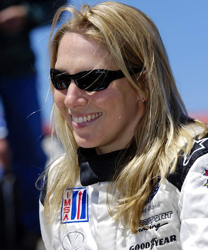 The California native, who now lives in England, has enjoyed more success than any other female driver in the American Le Mans Series, winning three times while finishing runner-up in the P2 driver's championship. In 2007 season she became the first woman to race the Aston Martin DBR9 on the international scene, securing a class podium at the 12 Hours of Sebring and a fourth-place finish at Monza.