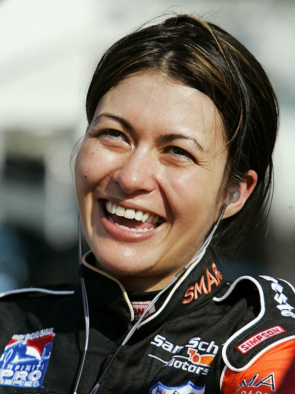 Munter, who once worked as a photo double/stunt driver for actress Catherine Zeta-Jones, is working her way up the NASCAR ranks. Last August, she finished fifth in the Indy Pro Series Kentucky 500.