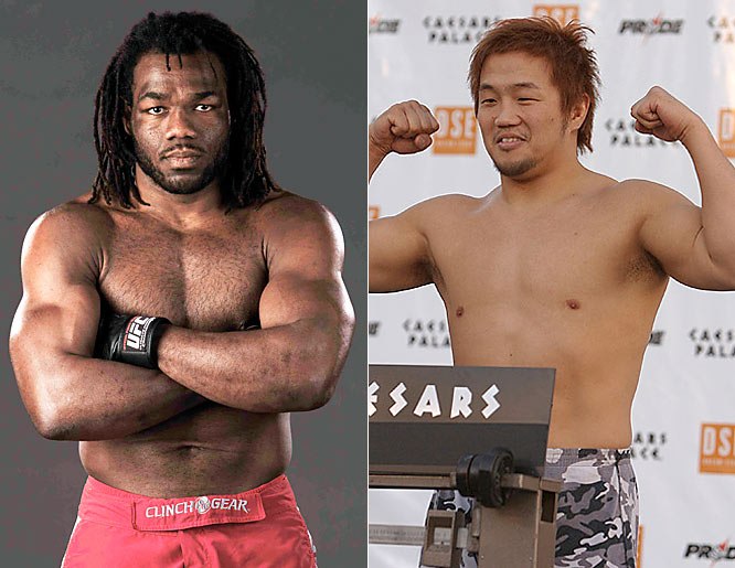 Two fighters identified with Pride Fighting Championships look to make their mark in the UFC.Winner: Sokoudjou (far left)How: Been there, done that for Sokoudjou in the UFC makes him better in his second fight. He shows flashes of brilliance in outpointing Nakamura.When: Round 3.