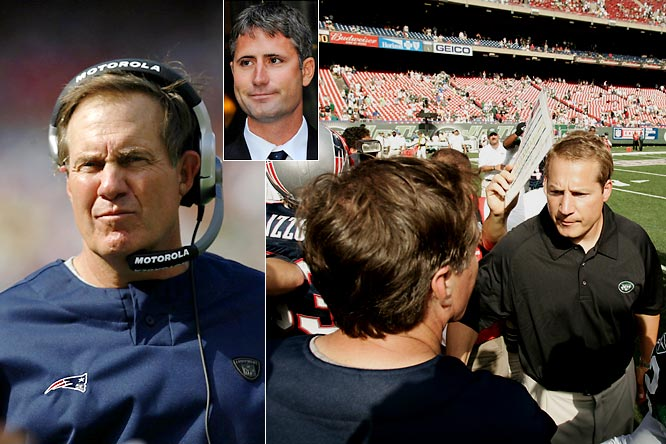 Whistle-blower: New York Jets<br><br>Offender: New England Patriots<br><br>Offense: The Jets accused the Patriots of videotaping coaches' signals during their Sept. 9, 2007, game in East Rutherford, N.J.<br><br>Fallout: Pats coach Bill Belichick was fined $500,000 and the team was docked $250,000 and a first-round draft pick. Spygate also introduced the world to Matt Walsh (inset), a former Patriots employee who claimed to have been illegally taping coaches' signals since 2000.