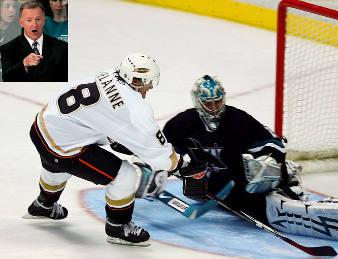 Whistle-blower: Ron Wilson<br><br>Offender: Teemu Selanne<br><br>Offense: In April 2007, Wilson (inset) blew the whistle on Selanne for using an illegal stick during a Sharks-Ducks game. Wilson may have had inside knowledge, having coached Selanne in both San Jose and Anaheim.<br><br>Fallout: The ensuing illegal stick penalty wiped away Selanne's would-be game-winning goal for the Ducks at the start of overtime. Wilson's Sharks went on to win in a shootout.
