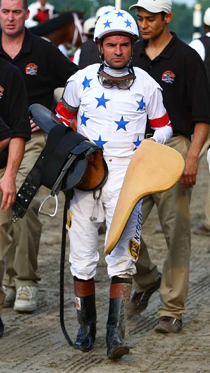 Jockey Kent Deormeaux won the 2008 Kentucky Derby and Preakness Stakes aboard Big Brown, but he came up shockingly short in the Belmont Stakes.