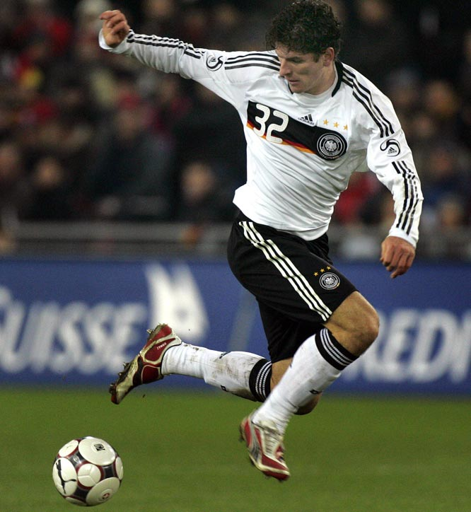 "Gomez scored 19 goals in 25 appearances this year for German club VfB Stuttgart. Deceptively agile for his 6-foot-2, 189-pound frame, the two-footed striker has earned the nickname Mr. Zuverlässig (""Mr. Reliable"") and appears poised for a breakout tournament alongside 2006 World Cup top scorer Miroslav Klose. He's played just nine games for Germany, but scored six goals."