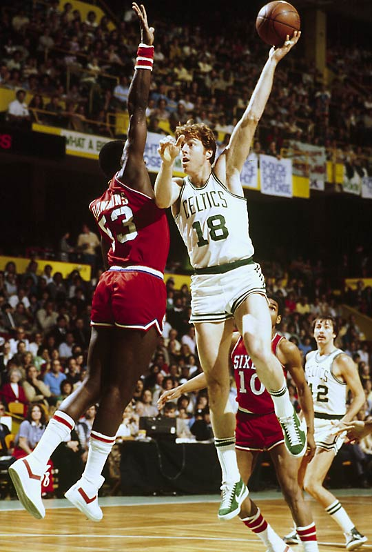 Though undersized as a 6-9 center, he stood toe-to-toe with all of them as a relentless defender and versatile offensive player. He could play in any style and was just as effective away from the basket as he was down on the block. Cowens won an MVP award and two championships with Boston.