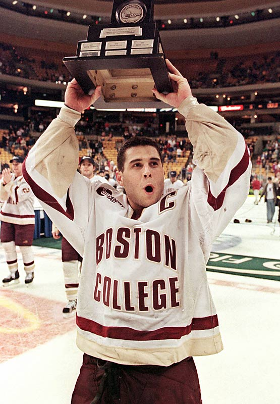 After setting a school record with 123 career goals and nine career hat tricks and finishing second on the career points list (232), the 5-foot-7 forward helped the New Jersey Devils win the 2003 Stanley Cup with nine points in 24 playoff games.