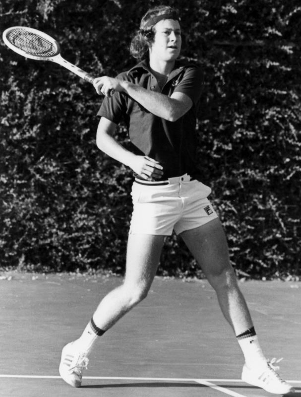 Despite reaching the  Wimbledon semifinals as an 18-year-old, John McEnroe decided to remain an amateur and attend Stanford. In 1978, he won the NCAA singles title and led the Cardinal to an undefeated dual match record and national championship before finally turning pro. He went on to have an extremely successful professional career, winning 77 singles titles (7 Grand Slams) and 71 doubles titles (9 Grand Slams).