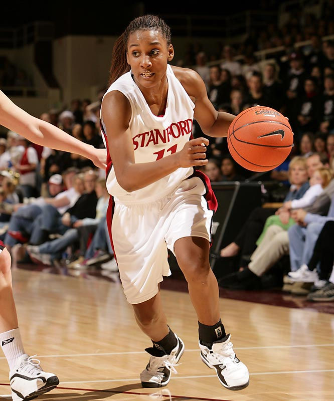 The all-time leading women's scorer for Stanford and the Pac-10, Wiggins led the Cardinal to four Elite Eight appearances and a combined 118-20 record. An All-America and three-time Pac-10 Player of the Year, she was named the Women's NCAA Basketball Player of the Year before being drafted third overall by the Minnesota Lynx.