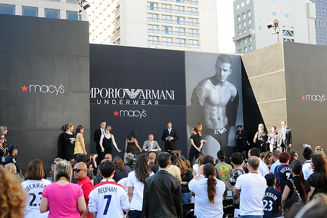 This David Beckham billboard that was unveiled in San Francisco on Wednesday.