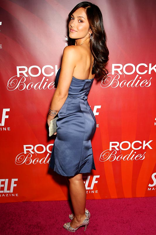 Minka Kelly, who stars in the football drama, ''Friday Night Lights,'' strikes a pose  at SELF Magazine's Rock Bodies party in New York on Wednesday.