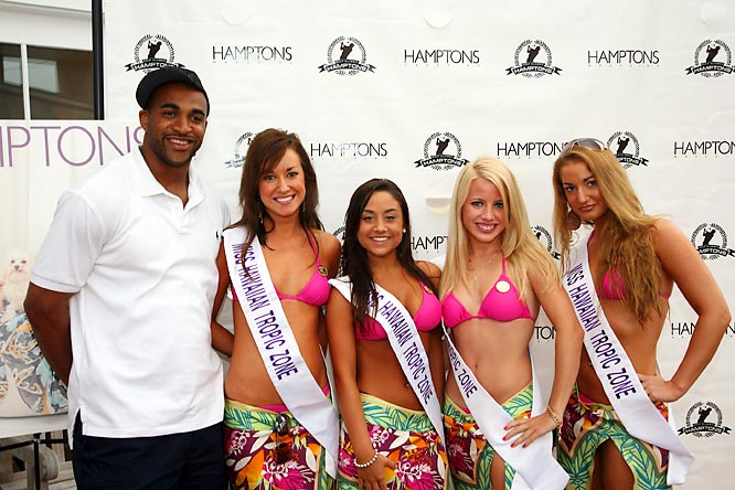 New York Giants Super Bowl hero David Tyree attended the fourth annual Hamptons Golf Classic on Monday.