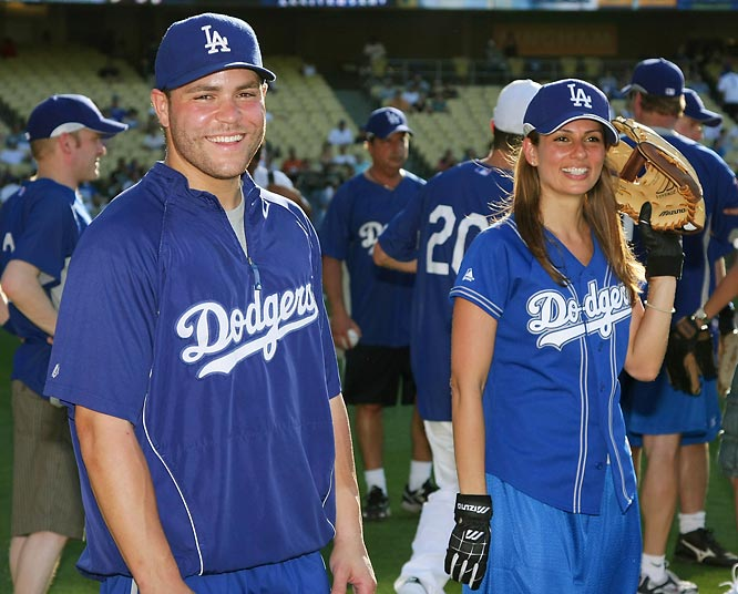 Dodgers catcher Russell Martin and actress Patricia Kara also participated in the event.