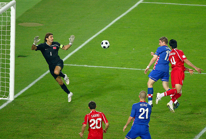 Klasnić's nifty header off a Luka Modrić cross caught Turkey's goalkeeper way out of position, snapping a scoreless tie in the 119th minute. The strike sparked Croatia's fans into jubilation, their country seemingly having advanced to a semifinal rematch with Germany. But their lead would prove short-lived.