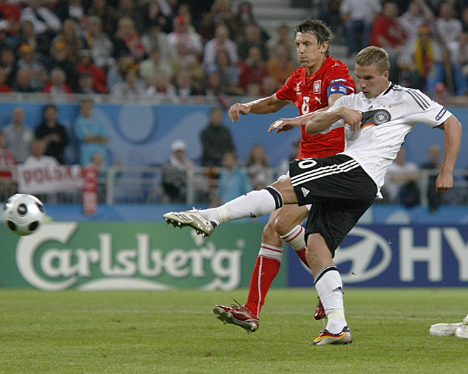 Podolski ended Poland's upset hopes with his second goal of the day, a booming left-footed volley in the 72nd minute at Worthersee Stadium in Klagenfurt.
