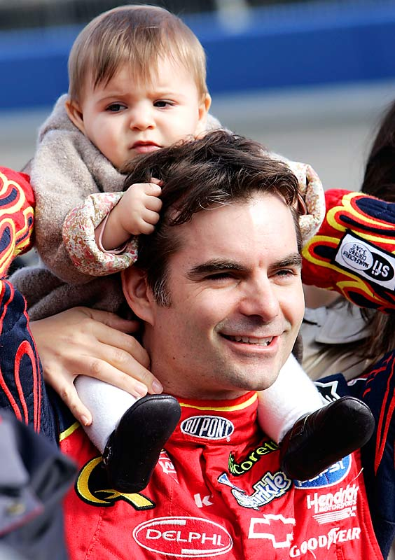 Four-time Sprint Cup Series winner Jeff Gordon, introduced his daughter, Ella Sofia, to the racing scene at an early age.