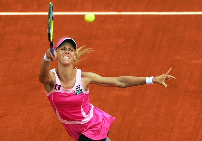 Russian reached quarterfinals and was a point from advancing against Safina. Then the deluge.