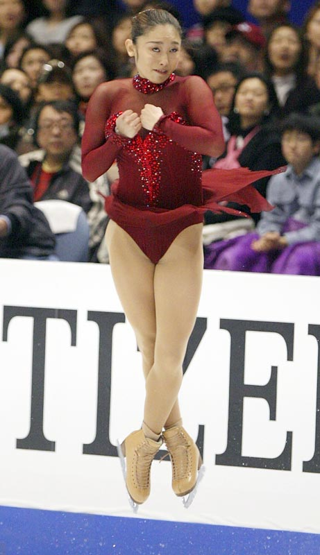 Japanese figure skater Miki Ando is the only female skater to have landed a quadruple jump (a salchow) in competition. She first completed the jump at the 2002 ISU Junior Grand Prix Final in the Netherlands at age 15.